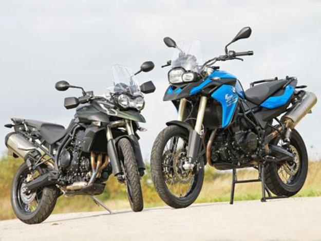Comparative motor bikes BMW F800GS vs Triumph Tiger 800 XC: Trails fighters by nature