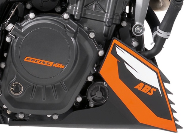 News motor bike 2013 with the EICMA: KTM 200 Duke ABS, ABS in ON/OFF mode