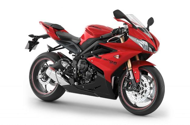 News motor bike 2013 with the EICMA: Triumph Daytona 675 (R), blow of young person on Supersport