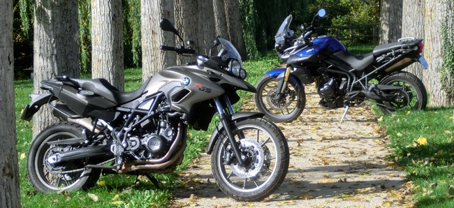 BMW F700GS vs Triumph Tiger 800: easy trails!