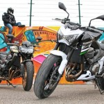 Comparative motorcycles Kawasaki Z800 vs Z750R
