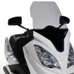 Bubble and Ermax windshield for Peugeot Satelis 125 and 300 2013: Style and protection