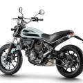 Ducati 2016 scrambler white back view