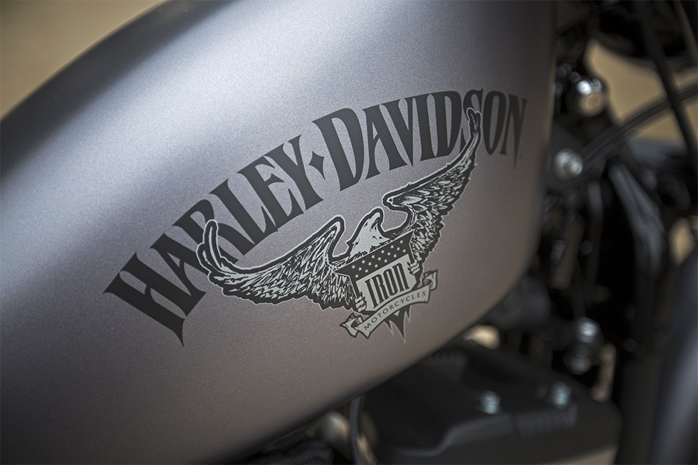 2016 Harley Davidson Iron 883 fuel tank view