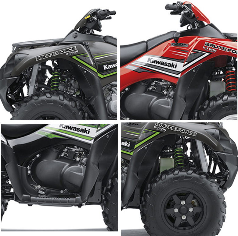 Kawasaki 2017 Brute Force 750 4x4i EPS and EPS Camo Specs