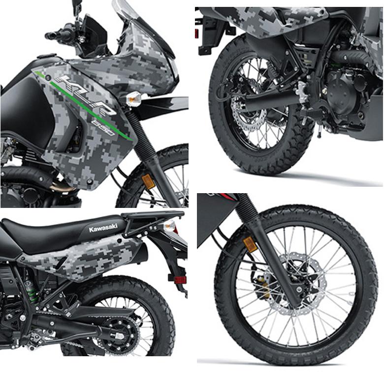 2017 Kawasaki KLR 650 and KLR 650 Camo Dual Purpose Specs