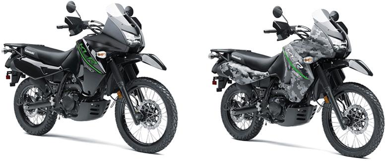 2017 Kawasaki KLR 650 and KLR 650 Camo Dual Purpose