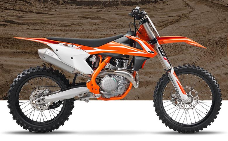 Sx F Ktm Powerful Dirt Motorcycle Side