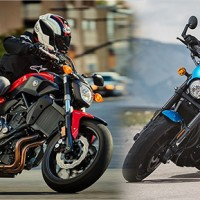 2017 Yamaha FZ-07 vs 2017 Harley-Davidson Street Rod