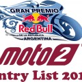 Gran Premio of Argentina Moto2 Entry list 2018