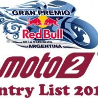 Gran Premio of Argentina Moto2 Entry list 2018