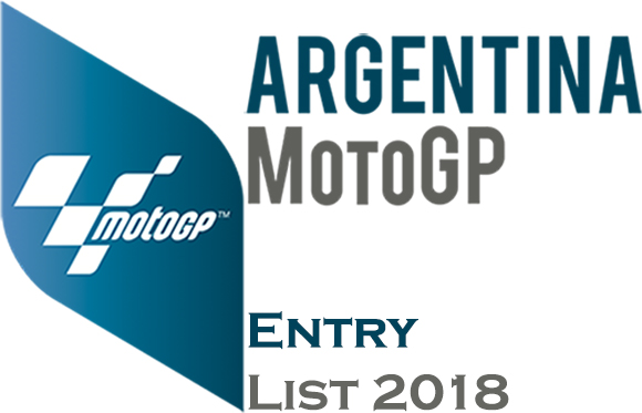 Gran Premio of Argentina MotoGP Entry list 2018