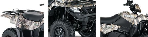 2018 KingQuad Suzuki 500AXi Power Steering Camo Utility ATV Specs
