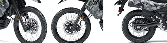 Kawasaki 2018 KLR650 Camo Dual Purpose Bike Specs