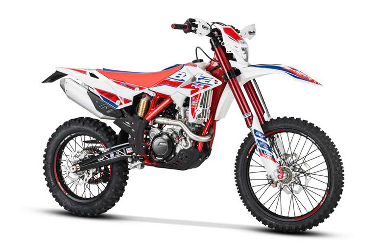 The new 2018 Beta 480 RR-Race Edition Powerful Dirt Bike is another impressive masterpiece by Beta brand. This off-road bike is one of the most potent bikes offering a massive amount of power and acceleration. It features the lightweight and robust frame that gives better handling experience of all times. The full review of the new 2018 Beta 480 RR-Race Edition Powerful Dirt Bike with its price and specifications are provided below. 2018 Beta 480 RR-Race Edition Powerful Dirt Bike – Price and Features The new 2018 Beta 480 RR-Race Edition Powerful Dirt Bike is available with the price of $9,999 only. Engine Features The new 2018 Beta 480 RR-Race Edition Powerful Dirt Bike features the most potent single-cylinder 4-valve 4-stroke liquid cooled 477.5 cc engine. It features an electric start with the backup kick starter, which is available as an option. The bore and stroke ratios are 100 mm and 60.8 mm respectively while the compression ratio is about 12.1:1. The ignition system consists up of DC-CDI having variable ignition timing, Kokusan that can provide a 200-watt output at 6000 RPM. The new spark plug NGK LKAR 8A-9 has been used. The fuel system consists up of 42 mm of electronic fuel injection with the dual injection system. The transmission consists up of 6-speed gearbox. Chassis Features The new 2018 Beta 480 RR-Race Edition Powerful Dirt Bike features the strong and lightweight frame. It features the new race graphics and rim decals that add to the more aggressive look. The new rear sprocket with an anodized aluminum core and steel teeth are not only attractive, but they are strong as well. The new 2018 Beta 480 RR-Race Edition Powerful Dirt Bike features an unbeatable combination of lightness and durability. Like the new 2018 Beta 430 RR-Race Edition Dirt Bike, it features the new quick release front wheel pin that speeds up tire repairs, and it saves precious seconds in a race situation. This dirt bike comes with the 48 mm of Sachs Closed Cartridge fork with skf seals having adjustable compression and rebound. 2018 Beta 480 RR-Race Edition Powerful Dirt Bike – Technical Specifications Engine Specs Type Single cylinder, 4-valve, (steel intake and exhaust) 4-stroke, liquid cooled, electric start with a backup kick starter sold as an option Bore 100 mm Stroke 60.8 mm Displacement 477.5 cc Compression Ratio 12.1:1 Ignition DC-CDI with variable ignition timing, Kokusan. 200-watt output at 6000 RPM Spark Plug NGK LKAR 8A-9 Lubrication Twin oil pumps with the cartridge oil filter. Separate oil for engine and clutch Fuel System 42 mm Electronic Fuel Injection w/Dual-injection system Clutch New, 6-spring wet multi-disc Transmission Gearbox 6-speed Final Drive O-ring chain Chassis Specs Frame Molybdenum steel/double cradle w/quick air filter access Front Suspension 48 mm Sachs Closed Cartridge fork w/ skf seals, adjustable compression and rebound Rear Suspension Aluminum Body Sachs shock w/adjustable rebound and hi/low-speed compression Front Wheel Travel 11.6 inches Rear Wheel Travel 11.4 inches Front Brake 260 mm floating rotor Rear Brake 240 mm rotor Front/Rear Rim 21 inches (Front) 18 inches (Rear) Front/Rear Tire Michelin Enduro Competition Dimension Wheelbase 58.7 inches Seat Height 36.8 inches Ground Clearance 12.6 inches Footrest Height 16.2 inches Steering Rake/Offset 26.5 degree rake/23 mm Offset Dry Weight 243 lbs. (wet weight, no fuel) Fuel Tank Capacity 2 US gallons Warranty Warranty 6-month Limited Warranty Conclusion This article is about the review of new 2018 Beta 480 RR-Race Edition Powerful Dirt Bike, and it is covered under Bikes Catalog. It features the powerful and high performing engine that is responsible for ultimate power and acceleration. The lightweight and compact chassis guarantees to have better handling experience under all conditions. Those riders who have the craze of riding off-road should think about the new 2018 Beta 480 RR-Race Edition Powerful Dirt Bike.