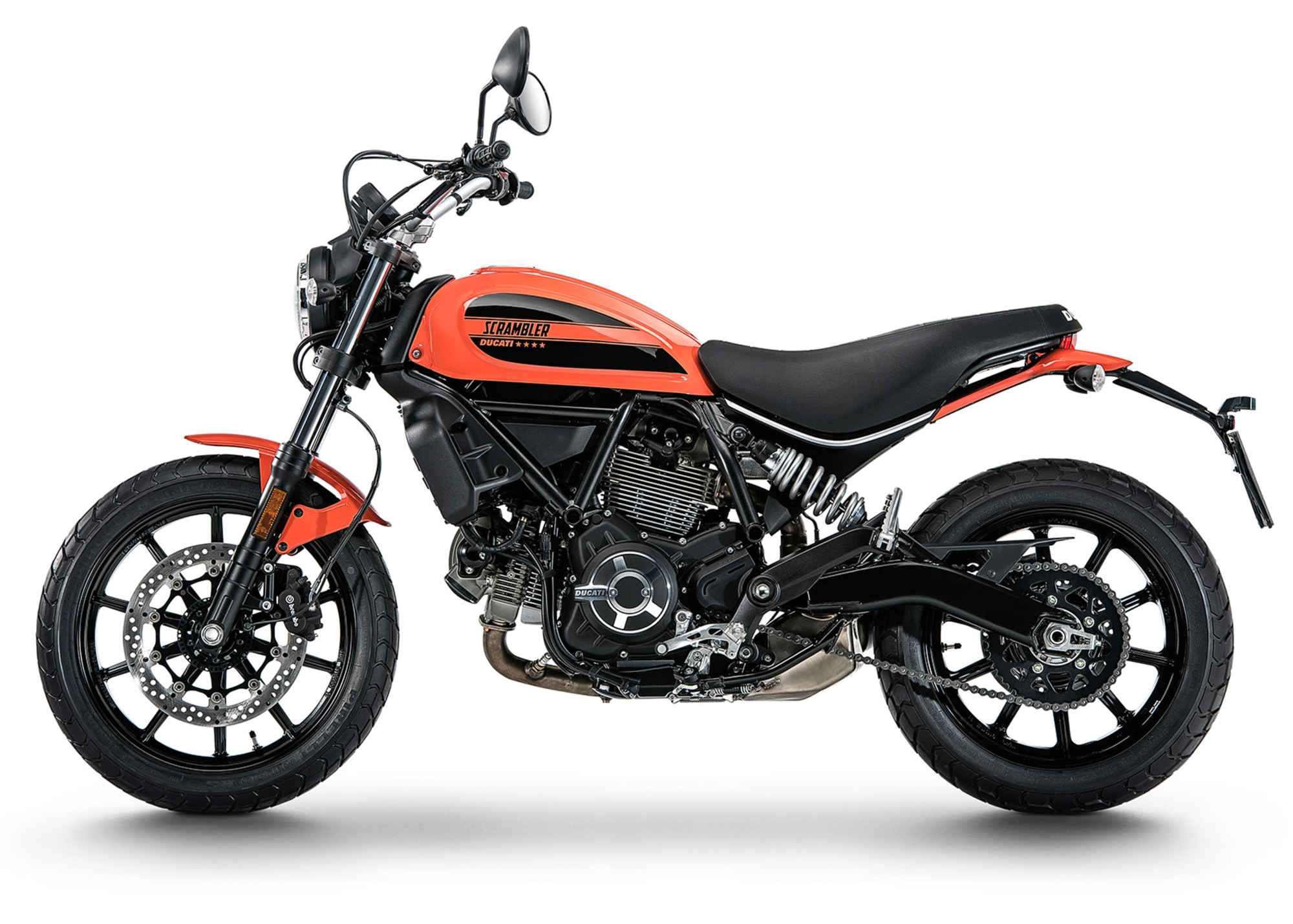 Ducati 2016 scrambler orange side