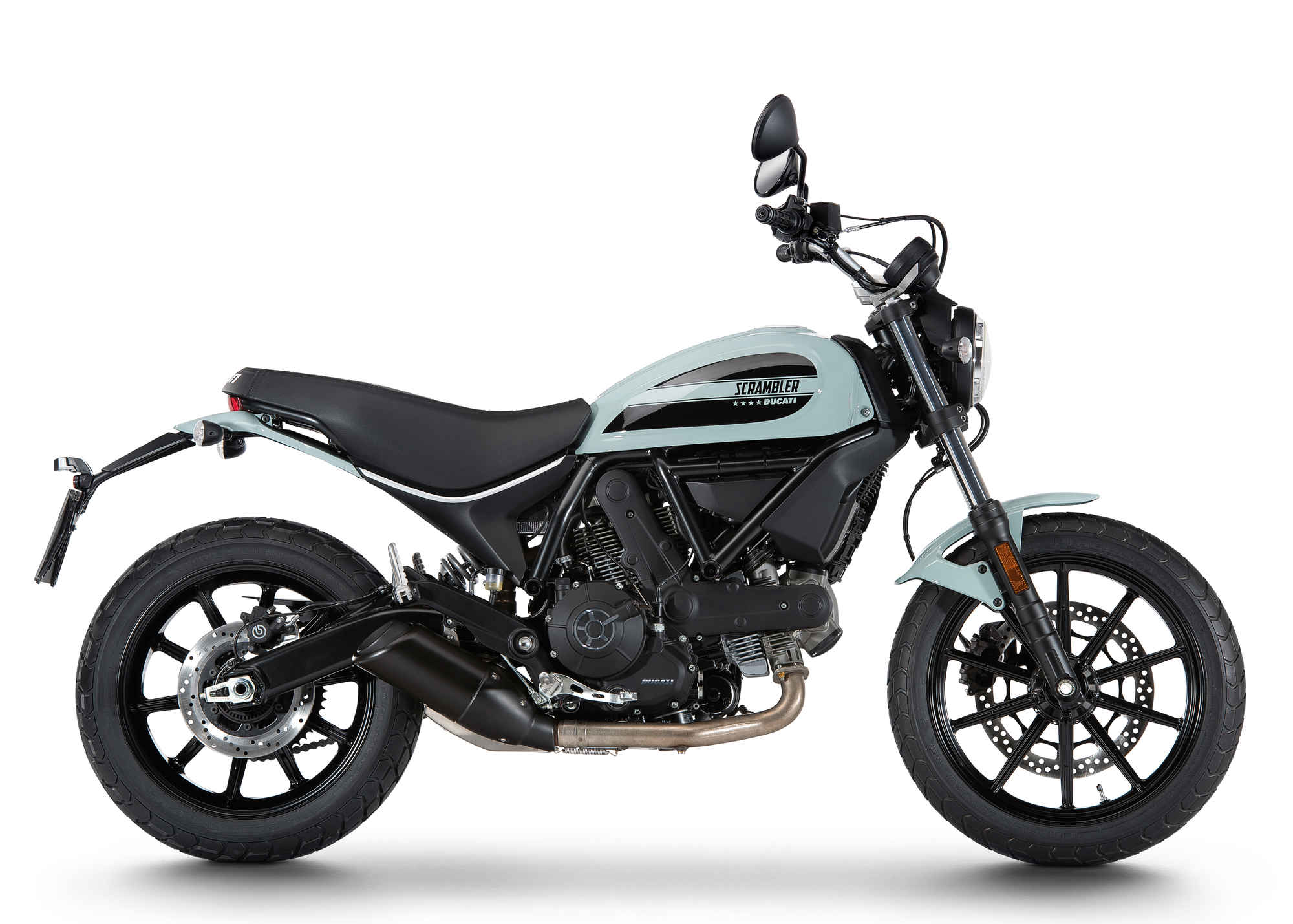 Ducati 2016 scrambler white side