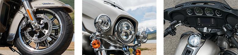Beinschild Bel/üftet f/ür Harley Davidson CVO Road Glide Ultra 12-13