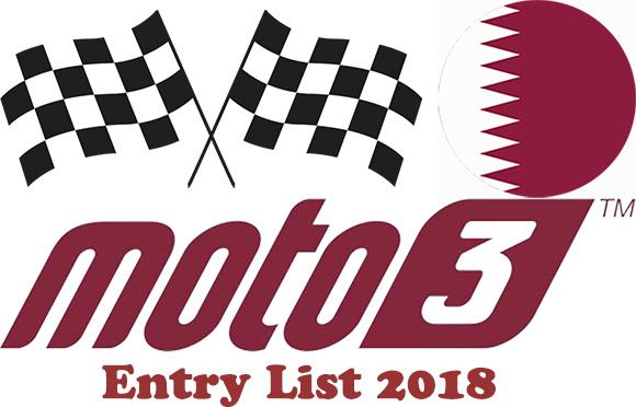 Entry list of Moto3 for Grand Prix of Qatar