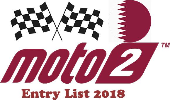 Grand Prix of Qatar Moto2 Entry list 2018