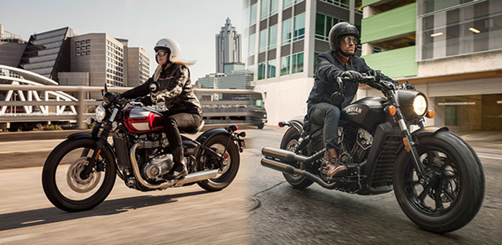 2018 Triumph Bonneville Bobber Black vs. 2018 Indian Scout Bobber Comparison Review