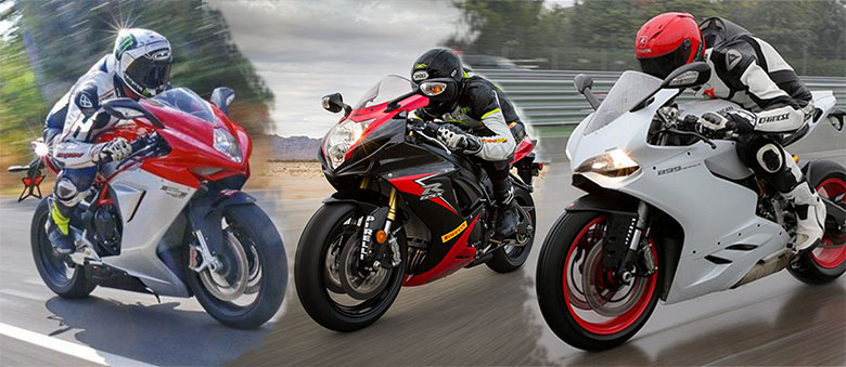 MV Augusta F3 800 vs Suzuki GSX-R750 vs Ducati 899 Panigale Comparison Review