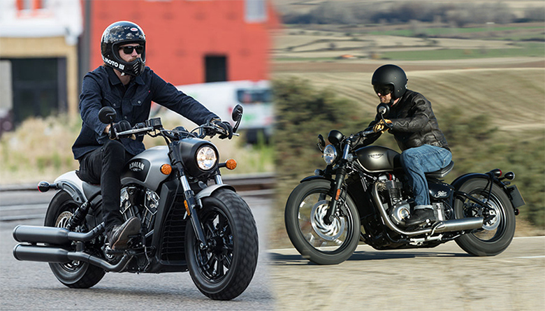 2018 Scout Bobber vs 2018 Bonneville Bobber Black Comparison Review