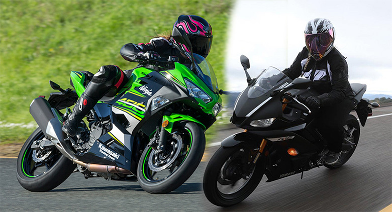 Kawasaki 2019 Ninja 400 vs Yamaha 2019 YZF-R3 Comparison Review