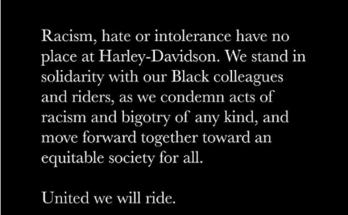 Harley-Davidson Raises Voice For George Floyd