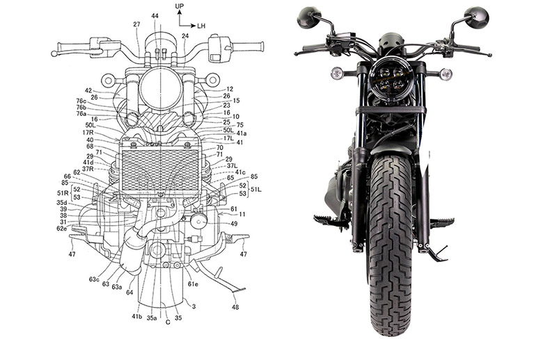 Patents Reveal the New Honda Rebel 1100