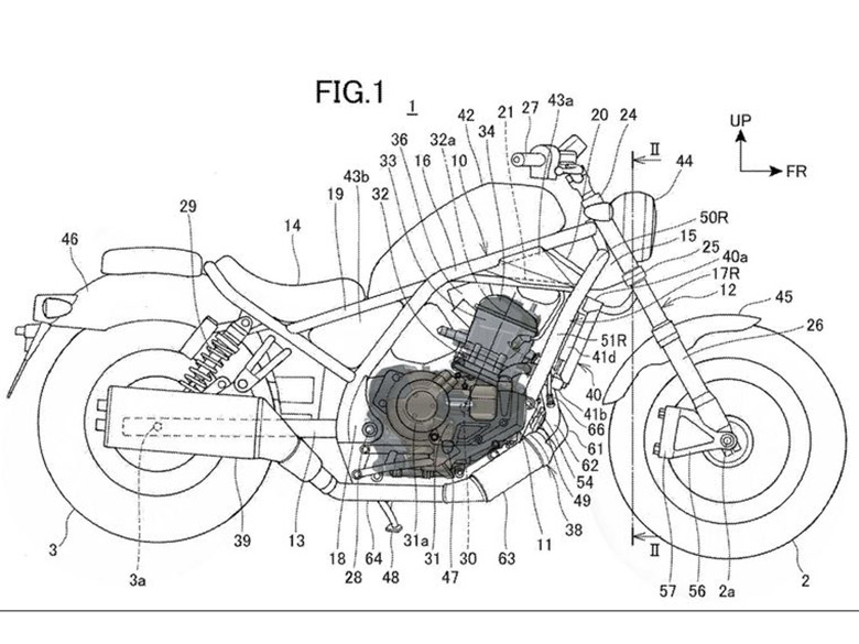 Patents Reveal the New Honda Rebel 1100