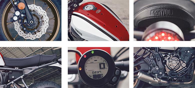 Yamaha XSR700 2020 Sports Heritage Bike Specs