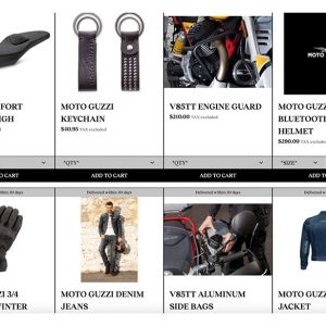 Moto Guzzi has launched an eCommerce platform in the United States
