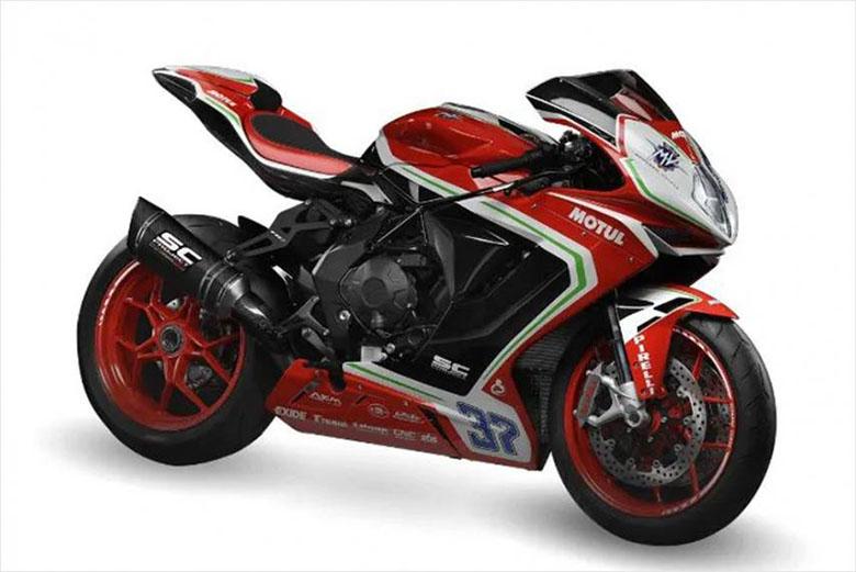 F3 800 RC 2019 MV Agusta Powerful Sports Motorcycle